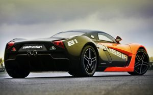 imagine cu masina sport