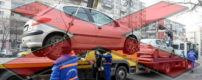 ridicare masini parcate neregulamentar