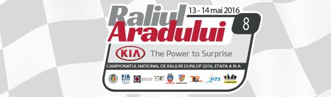 Raliul Aradului pe 13-14 mai 2016